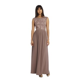 R & M Richards Women's Band Top Evening Gown