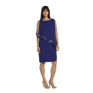 R & M Richards Women's Overlay Sequin Dress