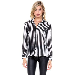 Stanzino Women's Striped Button Down Shirt