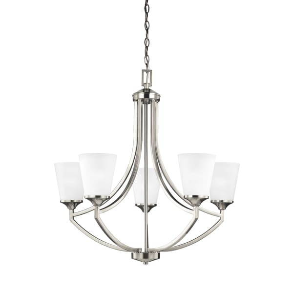 Sea Gull Hanford 5 Lights Brushed Nickel Chandelier