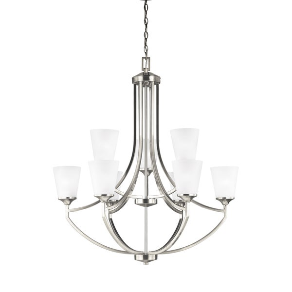 Sea Gull Hanford 9 Lights Brushed Nickel Chandelier