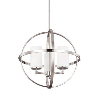 Sea Gull Alturas 3 Lights Brushed Nickel Chandelier