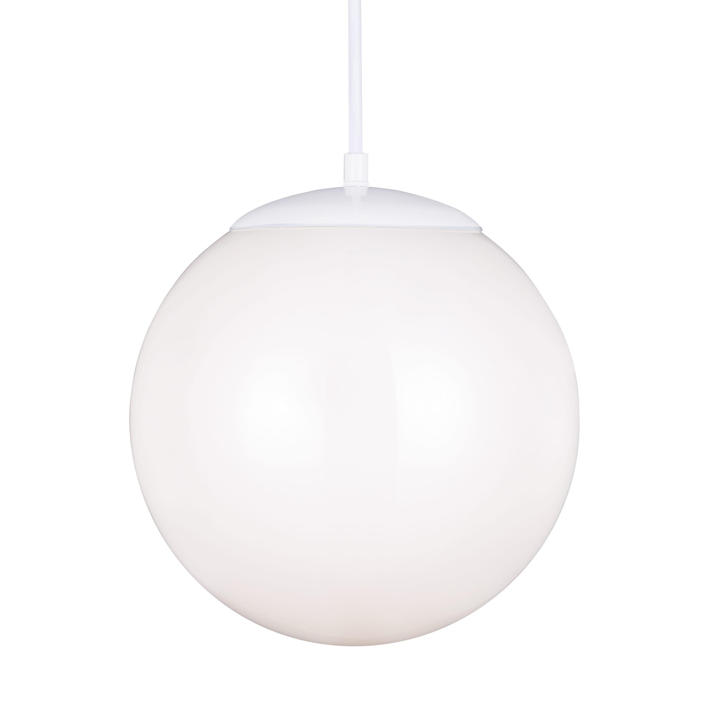 Sea Gull Lighting Hanging Globe LED White Pendant (Large ...