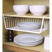 Home Basics White Vinyl Coated Steel Large Undershelf Basket