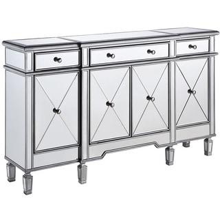 Elegant Lighting 3-drawer 4-door Mirrored Cabinet