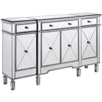 Elegant Lighting 3-drawer 4-door Mirrored Cabinet