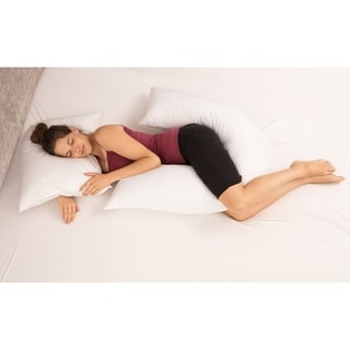 Deluxe Comfort White V Boomerang Side Sleeper Pillow
