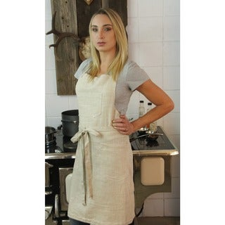 Basic 2 Patch Pocket Linen Butcher's Apron