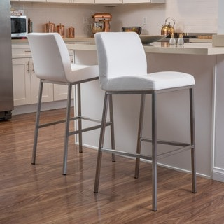 Vasos Bonded Leather Barstool (Set of 2) by Christopher Knight Home