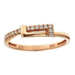 Anika and August 14k Rose Gold 1/8ct TDW Diamond Band Ring (G-H, I1-I2)