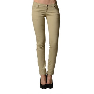 Dinamit Juniors 5-Pocket Skinny Uniform Pant (Option: Khaki)