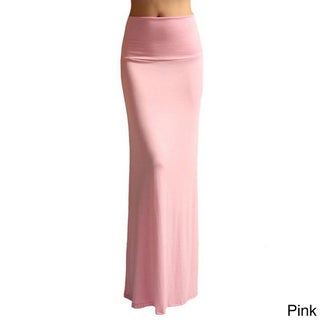 Dinamit Women's Rayon Spandex Solid Maxi Skirt (More options available)