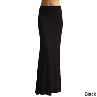 Dinamit Women's Rayon Spandex Solid Maxi Skirt (3 options available)