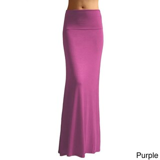 Dinamit Women's Rayon Spandex Solid Maxi Skirt (4 options available)
