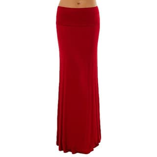 Dinamit Women's Rayon Spandex Solid Maxi Skirt