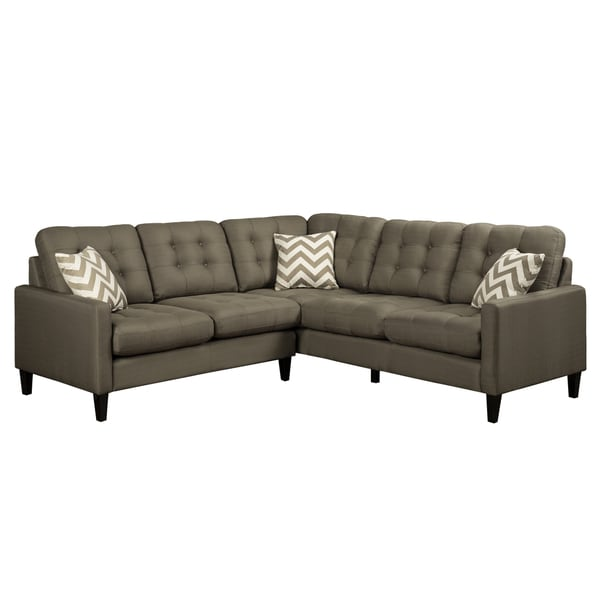 Shop Porter Hamilton Otter Taupe Sectional Sofa With Woven