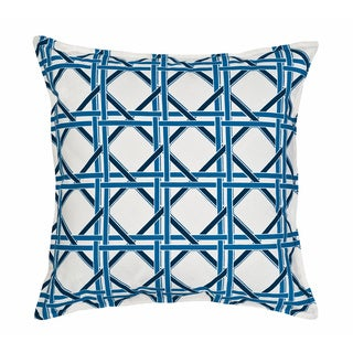 Cane Cotton Canvas 20-inch Pillow Cove