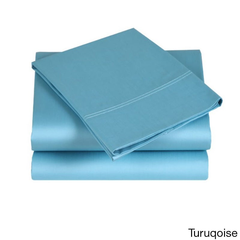 Affluence 300 Thread Count Sheet Set (Turquoise - Queen),...