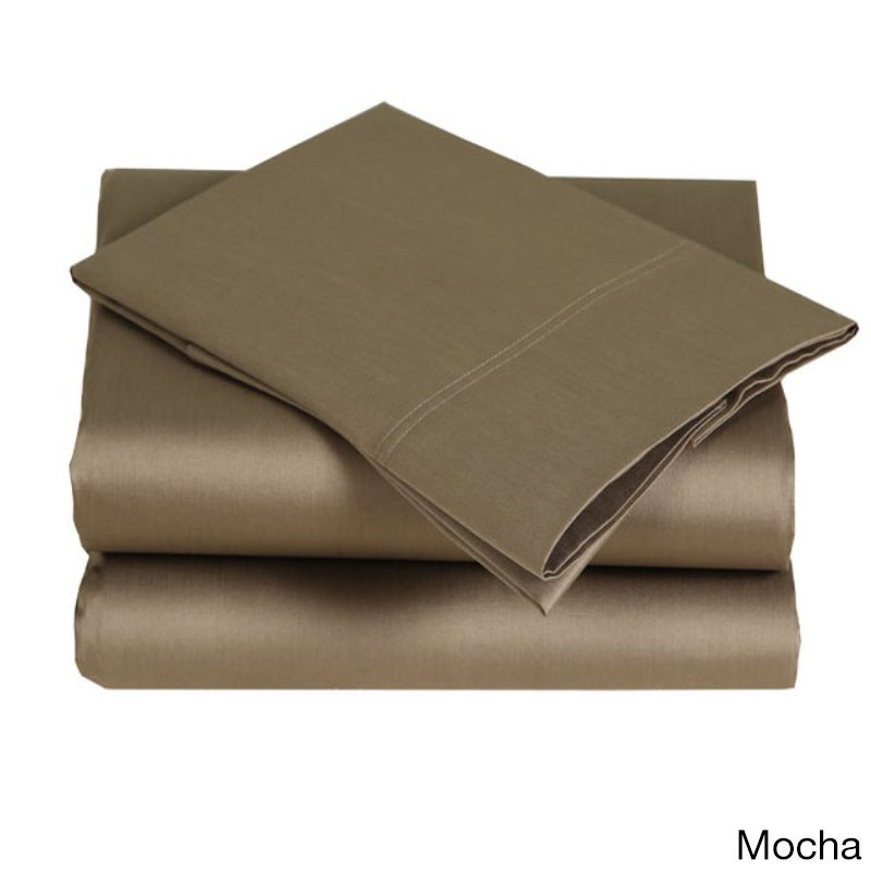 Affluence 300 Thread Count Sheet Set (Mocha - King), Brow...