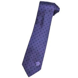 Versace 100-percent Italian Silk Navy Blue Stars Neck Tie