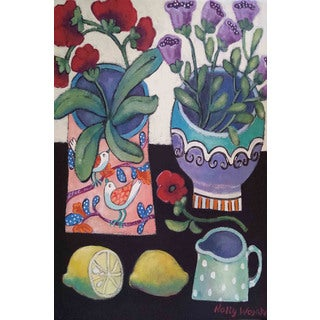 Marmont Hill - Happy Still Life with Lemon Painting Print on Canvas
