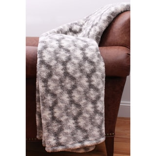 Thro by Marlo Lorenz Quinto Printed Sherpa Throw