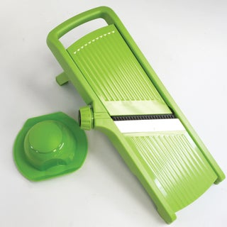 Diamond Home Mandoline Slicer with Adjustable Blade and Hand Guard, Green