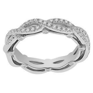 Verragio 18k White Gold 1/4ct TDW Diamonds Wedding Band Size 5.25 (VS1-VS2, F-G)