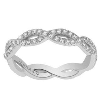 Verragio 18k White Gold 5/8ct TDW Diamonds Eternity Twist Band Size 6.25 ( F-G, VS1-VS2)