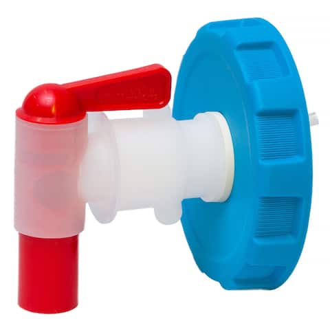 Ventless Spigot Assembly for WaterBrick Containers - Blue