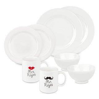 Waechtersbach Mr and Mrs Right Dinnerware Set