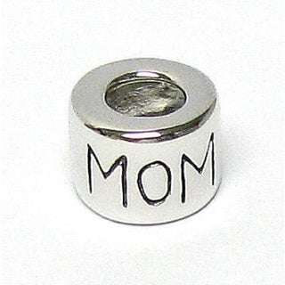 Queenberry Sterling Silver MOM Ring Enamel European Bead Charm