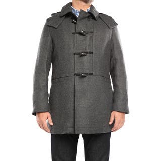 Verno Walt Men's Grey Wool Hooded Toggle Overcoat|https://ak1.ostkcdn.com/images/products/11102626/P18107185.jpg?impolicy=medium