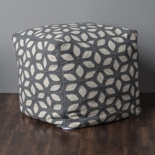 """Rizzy Home 19"""" x 19"""" Whirl Cube Pouf"""