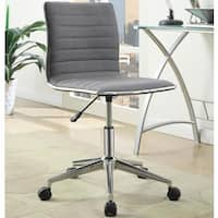 Juliana Adjustable Sleek Grey Swivel Office Conference Chair with Chrome Base