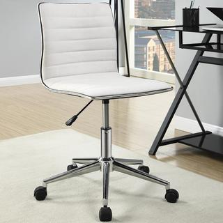 Juliana Adjustable Sleek Cream Swivel Office Conference Chair with Chrome Base