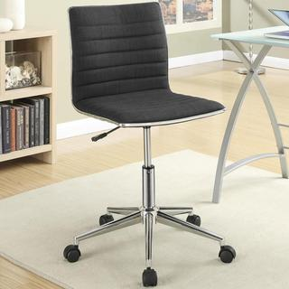 Juliana Adjustable Sleek Black Swivel Office Conference Chair with Chrome Base