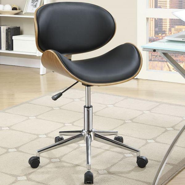 mirage adjustable modern curved wood black upholstered