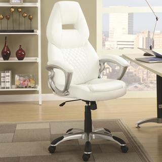 Zender Adjustable Quilted Design Modern Swivel Office Chair