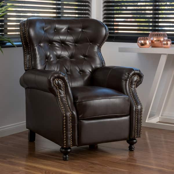 Enjoyable Shop Walder Bonded Leather Recliner Club Chair By Bralicious Painted Fabric Chair Ideas Braliciousco