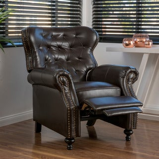 Walder Bonded Leather Recliner Club Chair by Christopher Knight Home