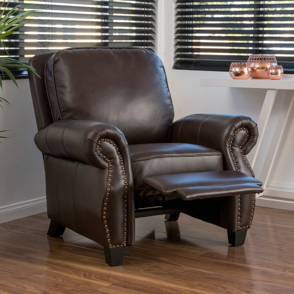 Torreon Pu Leather Recliner Club Chair By Christopher
