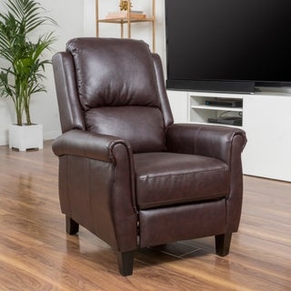 Haddan PU Leather Recliner Club Chair by Christopher Knight Home (Option: Burgundy)
