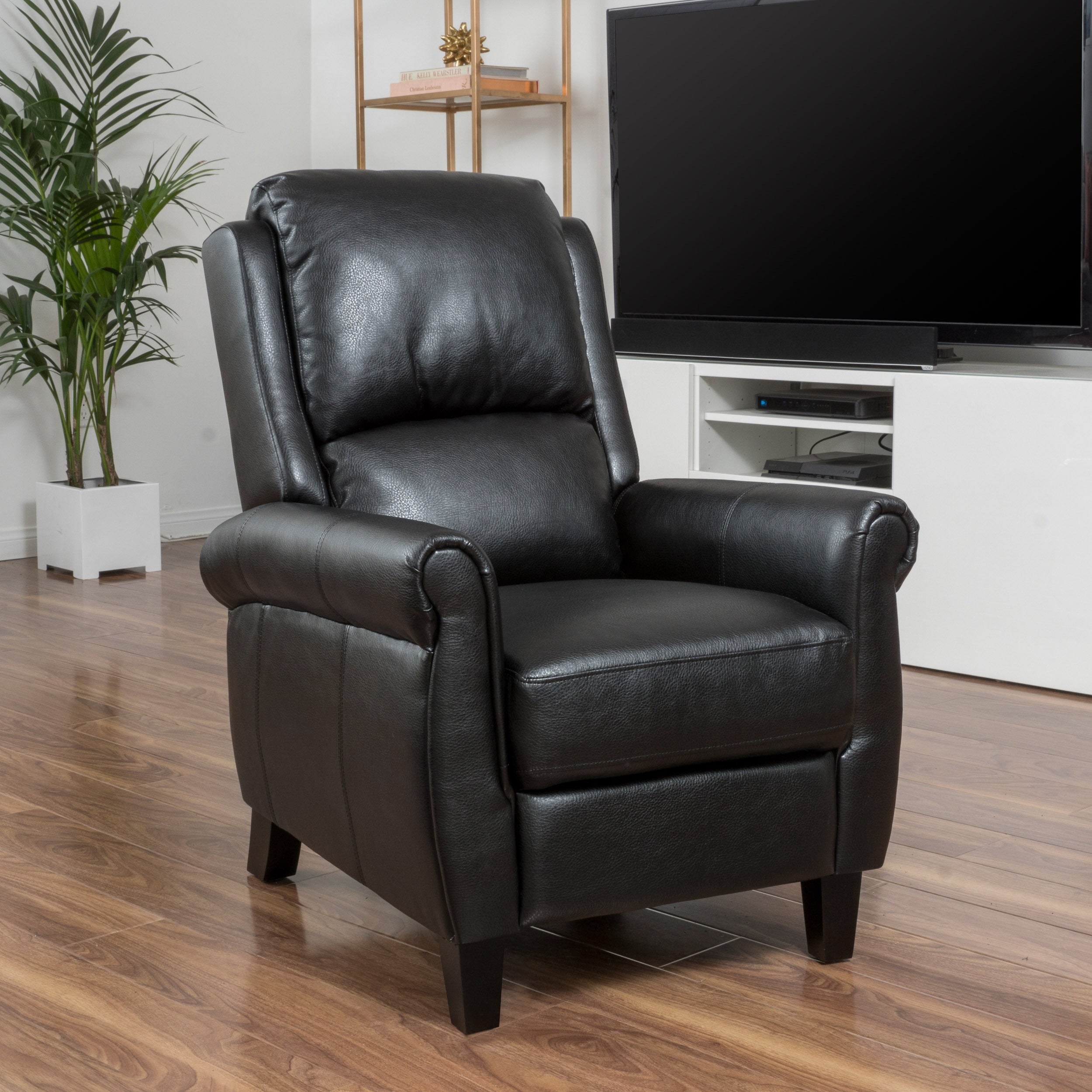 Haddan PU Leather Recliner Club Chair by Christopher Knig...