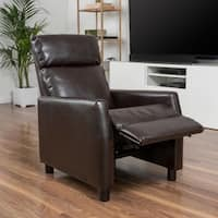 Tabahri Bonded Leather Recliner Club Chair by Christopher Knight Home