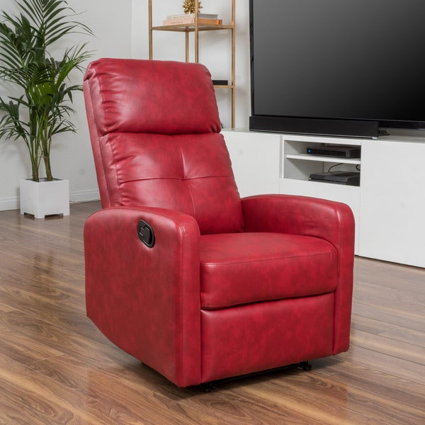 Samedi PU Leather Recliner Club Chair By Christopher Knight Home   Free  Shipping Today   Overstock.com   18108484