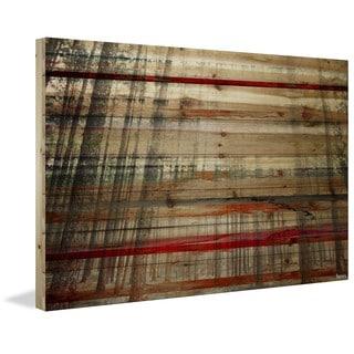 Parvez Taj - 'Tree Maze' Painting Print on Natural Pine Wood