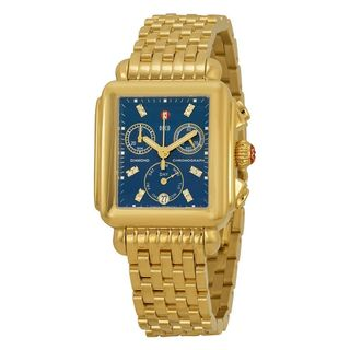 Michele Women's MWW06P000221 'Deco' Chronograph Diamond Gold-Tone Stainless Steel Watch