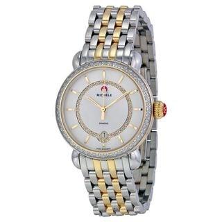 Michele Women's MWW03T000042 'CSX 36' Diamond Two-Tone Stainless Steel Watch