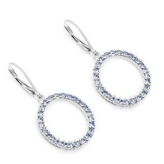 Olivia Leone Sterling Silver 1 3/4ct TGW Genuine Tanzanite Earrings